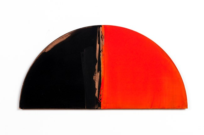 No. II (vermillion/shadow) by Gretchen Albrecht contemporary artwork