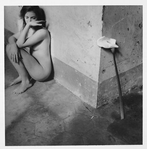 Self-portrait, Easter, Rome by Francesca Woodman contemporary artwork