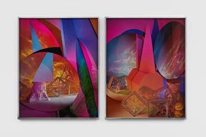 Metaphase 8 Diptych by Barbara Kasten contemporary artwork
