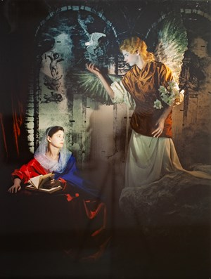 The Annunciation from the series Repentance1988 by Rose Farrell & George Parkin contemporary artwork