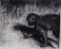 Kruipende Aap by Johann Louw contemporary artwork works on paper, drawing
