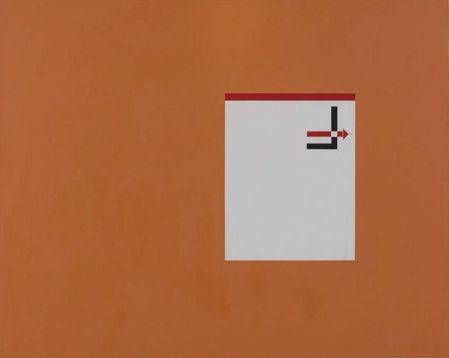El Lissitzky Letterhead by David Diao contemporary artwork