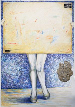 Woman as Taboo-legs by Jane McAdam Freud contemporary artwork