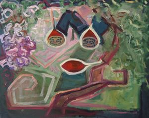 Tamarillo Tart by Layla Rudneva-Mackay contemporary artwork