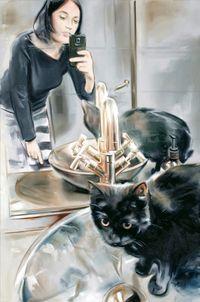 I've got my eyes on you by Marcin Maciejowski contemporary artwork painting
