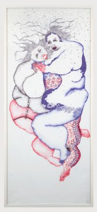 From the series 'Gutting Blue' (2) by Vidha Saumya contemporary artwork works on paper