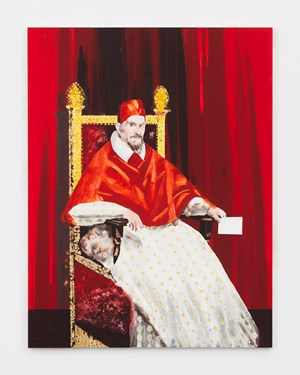 Pope Innocent X (After Velázquez) by Barnaby Furnas contemporary artwork
