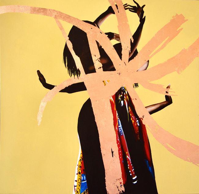 Golden Thread by Dawn Okoro contemporary artwork