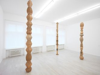 Exhibition view: Mariana Castillo Deball,Reliefpfeiler, Barbara Wien, Berlin (17 September–14 November 2015). Courtesy Barbara Wien.