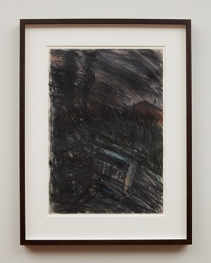 Train by Night No.2 by Leon Kossoff contemporary artwork