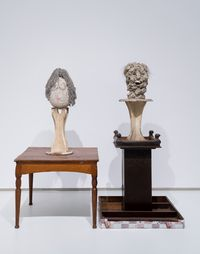 Two Professors 两教授 by Ouyang Chun contemporary artwork sculpture, mixed media