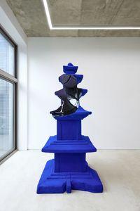 ½ؤ(مع)-Blue Pagoda by Gunwoo Shin contemporary artwork sculpture