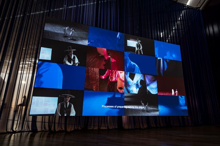 siren eun young jung, Deferral Theatre (2018). Single-channel video, Full HD, stereo sound, 35 min., 05 sec. Exhibition view of 2018 Korea Artist Prize at MMCA Seoul. ©Cheolki Hong