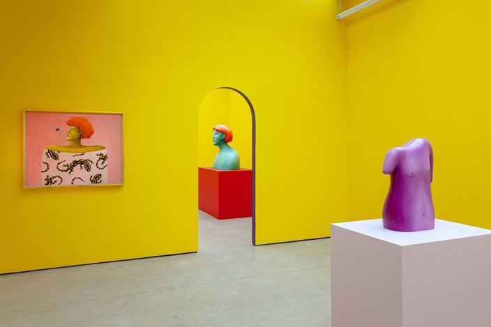 Exhibition view: Nicolas Party, Polychrome, The Modern Institute, Osborne Street, Glasgow (25 May–24 August 2019). Courtesy the artist and The Modern Institute/Toby Webster Ltd, Glasgow. Photo: Patrick Jameson.