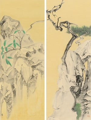 Elegant Offering Series No. 19 and No. 20 by Luo Ying contemporary artwork