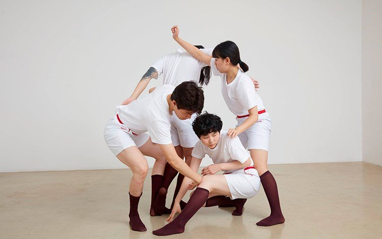 Eunji Cho, + -Plus minus Joints, 2016, performance, duration: 60min. Courtesy One and J. Gallery