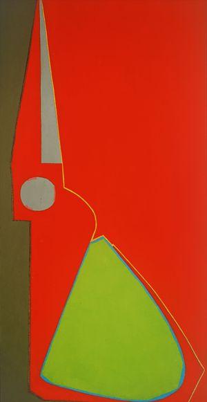 Red Half Scissors, Upright by Mao Xuhui contemporary artwork