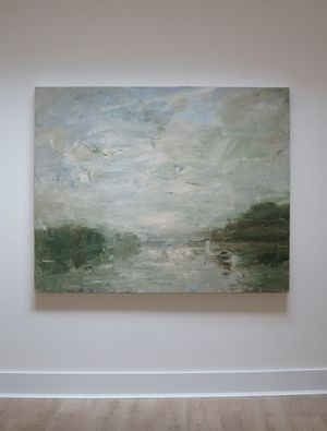 Looking Across the River by Louise Balaam contemporary artwork painting, works on paper