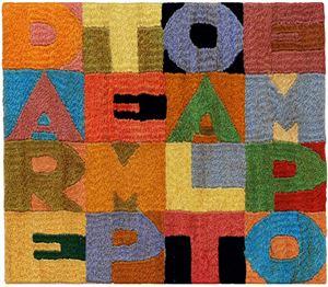 Dare tempo al tempo by Alighiero Boetti contemporary artwork