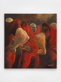 Blood Conference aka Three Red Linemen by Ernie Barnes contemporary artwork painting