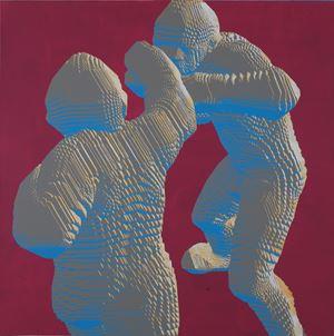 Boxing by Miao Xiaochun contemporary artwork
