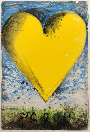 The Earth by Jim Dine contemporary artwork print