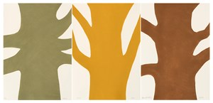 Beech, Ash, Oak, Triptych by David Nash contemporary artwork