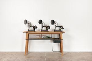 Singer Trio by William Kentridge contemporary artwork