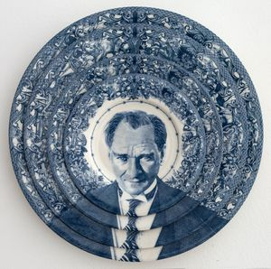 Gastric Icon IV, Turkey Ataturk by Carlos Aires contemporary artwork