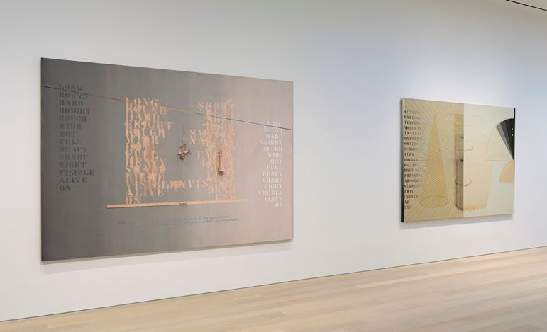 Exhibition view: Arakawa, Diagrams for the Imagination,Gagosian, 980 Madison Avenue New York (5 March–13 April 2019).© Estate of Madeline Gins. Reproduced with permission of the Estate of Madeline Gins.Courtesy Gagosian.Photo: Rob McKeever.