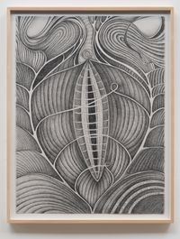 Living Fossil (My Heart Shell Breaks Open) by Faith Wilding contemporary artwork works on paper, drawing