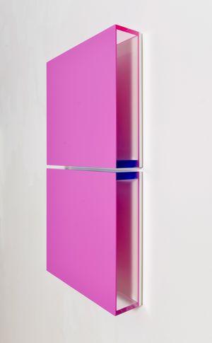 Colormirror grape pink Milan by Regine Schumann contemporary artwork