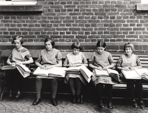 VII/45/5 Blind Children at their Lessons 1/12 of 1990, c. 1930 by August Sander contemporary artwork