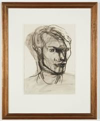 Portrait of Stephen Spender by Henry Moore contemporary artwork works on paper