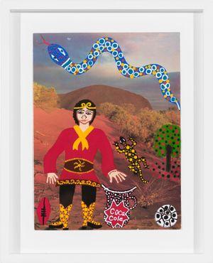 Monkey Magic on Country by Kaylene Whiskey contemporary artwork