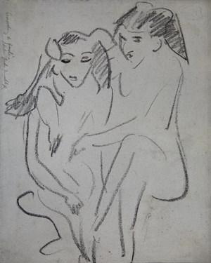 Fränzi und Marcella by Ernst Ludwig Kirchner contemporary artwork