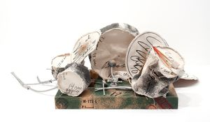 Miniature Soft Drum Set by Claes Oldenburg contemporary artwork