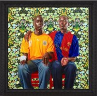 Dogon Couple II by Kehinde Wiley contemporary artwork painting, works on paper