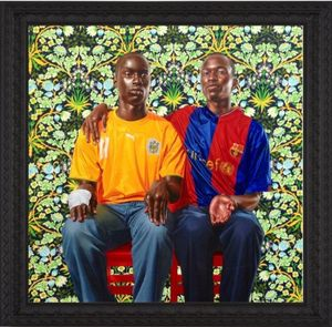 Dogon Couple II by Kehinde Wiley contemporary artwork
