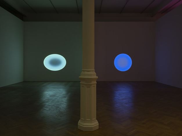Exhibition view: James Turrell, Pace Gallery, London (11 February–14 August 2020). © James Turrell. Courtesy Pace Gallery. Photo: Damian Griffiths.