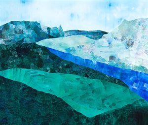 Landscape (Blue River) by Sally Ross contemporary artwork