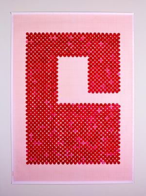 Switch (Series 2: Number 3) by Lubna Chowdhary contemporary artwork painting, works on paper