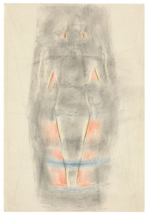 Study of Angel carrying Faust's soul to Heaven by Otto Meyer-Amden contemporary artwork