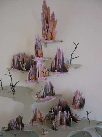 Trek to Candy Peak by Joanna Langford contemporary artwork