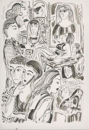 Museum Faces by Julia Long contemporary artwork