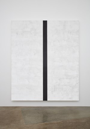 Untitled (White, Black Band, Beveled) by Mary Corse contemporary artwork