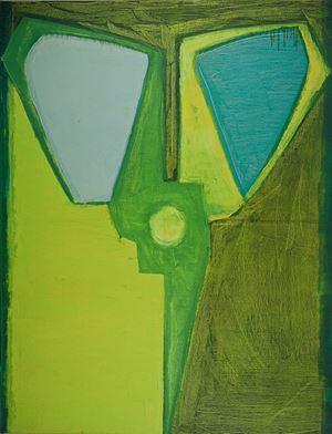 Green Scissors by Mao Xuhui contemporary artwork