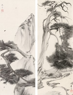 Elegant Offering Series No. 5 and No. 6 by Luo Ying contemporary artwork