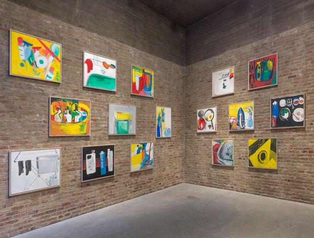 Exhibition view: Karl Horst Hödicke,KLEINE BILDER AUS KÜCHE UND KLO. König Galerie, St Agnes | Chapel (18 March–18 April 2021). Courtesy König Galerie. Photo: Roman Maerz.