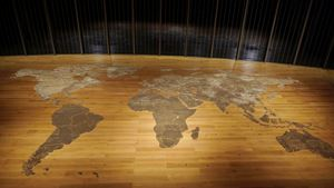Map (clear) by Mona Hatoum contemporary artwork
